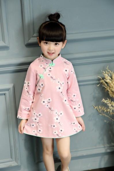 Baby-Girls-font-b-Kids-b-font-Chinese-Cheongsam-Floral-Dress-font-b-Qipao-b-font