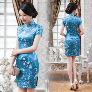 LGD-17045AB-LGD121-Sky-blue-floral-brocade-short-qipao-003-300x300